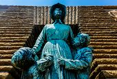 stock photo of afrikaner  - Voortrekker woman and children monument - JPG
