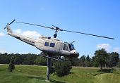 Huey Helicopter UH-1D at the Vietnam War Memorial in Bangor, Maine