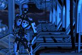 Cyborg On Dock