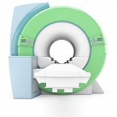 Modern MRI MRT machine in the radiology clinic