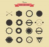 Collection badgets and labels, vector retro vintage design