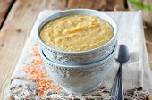 Puree Soup Of Lentils And Vegetables