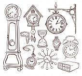 Set of different clocks