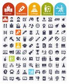 stock photo of certificate  - Education Icons set  - JPG