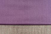 image of knitwear  - Closeup detail of purple fabric texture or background - JPG