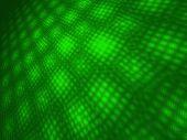 Dark Green CyberMoire 3D Landscape