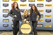 Daytona Beach, FL - Jan 24, 2014:  The Continental Tire models pose for a photo at the Continental T