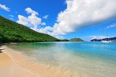 Colorful beach in St John, Virgin Island.