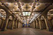 foto of underpass  - New York City at  Bethesda Terrace underpass in Central Park - JPG