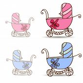 Baby stroller for girls and boys
