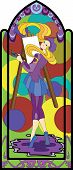 girl art stained glass mosaic artist