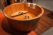 Wooden Bath Tub At Olis Festival In Milan, Italy