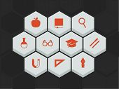 vector education and science icons