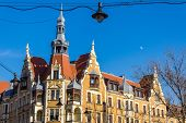 stock photo of tenement  - Eclectic tenement in Gliwice - JPG