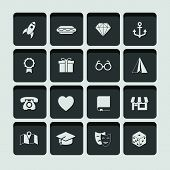 vector set of universal icons