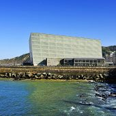 SAN SEBASTIAN, SPAIN - NOVEMBER 15: Kursaal Convention Center and Auditorium on November 15, 2012 in San Sebastian, Spain. Every year the Kursaal houses the San Sebastian International Film Festival