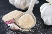 Wooden Spoon With Garlic Powder