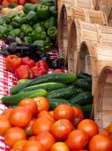 Outdoor Vegetable Market Summer Produce