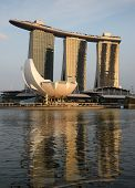 Sunset On The Marina Bay Sands Hotel And Casino, Singapore