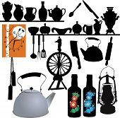 tableware, watches, spinning wheel