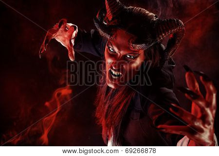 Portrait of a devil with