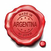 Made In Argentina Red Wax Seal