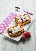 strawberry pastry with fresh cream