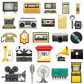foto of transistor  - easy to edit vector illustration of retro electronics - JPG
