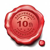 10Th Anniversary Red Wax Seal