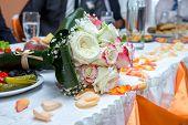 Decoration on wedding table