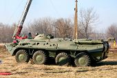 picture of military personnel  - An old Soviet Armored troop - JPG