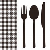 Cutlery And Tablecloth Pattern