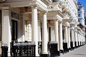image of kensington  - Regency Georgian terraced town houses in London - JPG