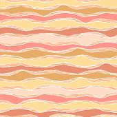 Seamless pattern with abstract wavy ornament