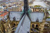 Notre Dame de Paris church roof