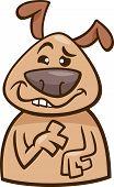 Mood Goofy Dog Cartoon Illustration