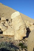 Giant Head Of Antiochus I Commagene,tumulus Of Nemrut Dag,  Turkey.
