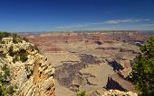 A view of the immense landscape from the South rim of Grand Canyon, Arizona