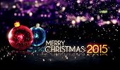 Merry Christmas 2015 Night Bokeh Beautiful 3D Background