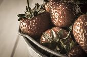 Vintage Strawberries Close Up