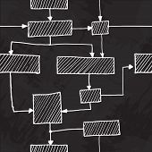 Vector hand draw flowchart seamless background