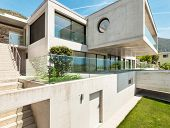 House in cement,  modern architecture, outdoor