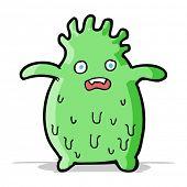 cartoon funny slime monster