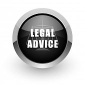 legal advice chrome glossy web icon