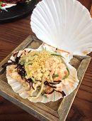 Beautifully served seafood salad