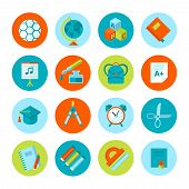 Set of school and education icons.