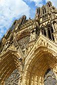 Notre-dame De Reims Cathedral, France.
