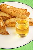 Biscotti Or Cantucci Biscuits (cantuccini) And Vin Santo Wine