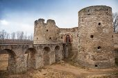 Entrance To Koporye Fortress In Historic Village. Leningrad Oblast, Russia