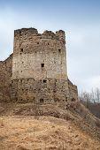 Tower Of Koporye Fortress, Historic Village In Leningrad Oblast, Russia